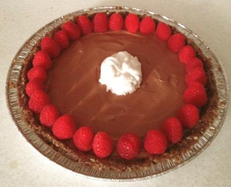 new coconut chocolate cream pie